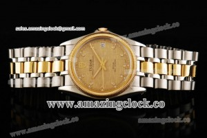 Price date SS/YG Champagne Dial on TT Strap - A2813