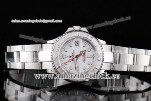 Yacht-Master Ladies 169622 SS White Dial on Steel Bracelet A2813