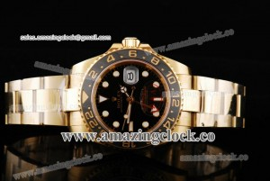 Rolex GMT-Master II 40MM 11671801 YG Black Dial on Yellow Gold Bracelet - A2813