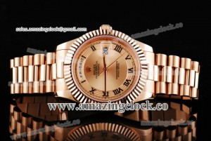 Day Date II 218235-chrp RG Rose Gold Dial on Rose Gold Bracelet - A2836