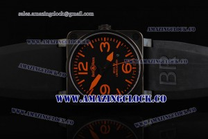 BR 03-92 Limited Edition PVD Black Dial on Black Rubber Strap A4813
