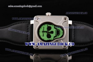 BR01 Airborne BR 01-94 SS Green Dial on Black Rubber Strap A2813