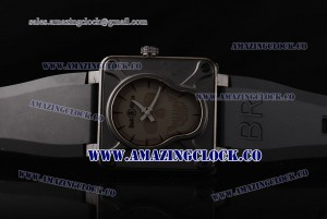 BR01 Airborne BR 01-94 PVD Grey Dial on Black Rubber Strap A2813
