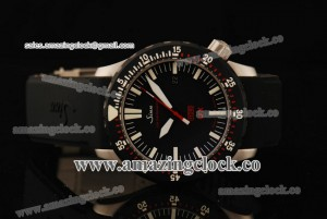 UX SS Black Dial on Rubber Strap - A2813