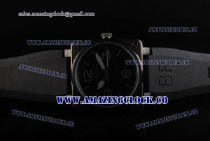 BR 01-92 Limited Edition PVD Black Dial on Black Rubber Strap A4813