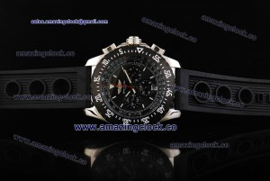 Aerospace SS Black Dial on Black Rubber Strap ASPS52