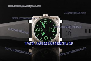 BR 01-92 Limited Edition SS Black Dial on Black Rubber Strap A4813