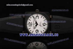 BR 01-92 Limited Edition PVD White Dial on Black Rubber Strap A4813