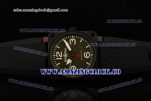 BR 03-92 PVD Green Dial on Black Leather Strap A4813