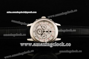 Grand Complication Skymoon 6397R-QQ SS White Dial on Black Leather Strap - A6611