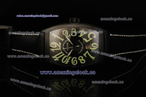 Casablanca 8880 C DT NR PVD Black Dial on Leather Strap - A2824-2