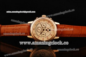 Grand Complication Skymoon 6397R-DD RG Pink Dial on Brown Leather Strap - A6611