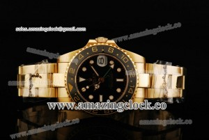 Rolex GMT-Master II 36MM 80319 YG Black Dial on Yellow Gold Bracelet - A2813