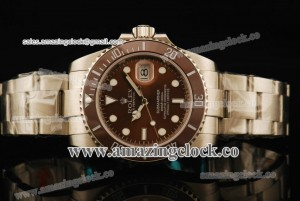 Submariner 116623LV Brown Dial/Bezel - A2836 Noob Edition