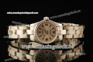Oyster Perpetual No-Date Ladies 116800 SS Fluted Bezel Silver Dial on Steel Bracelet - A2813