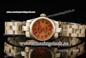 Oyster Perpetual No-Date Ladies 176215G SS Champagne Dial on Steel Bracelet - A2813