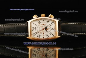 Master Banker 8880 MB L DT RG White Guilloche Dial on Leather Strap - AST25