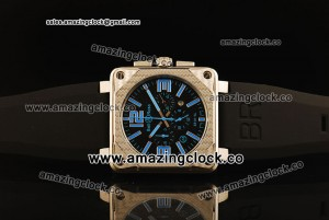 BR 01-94 SS Black Dial on Black Rubber Strap ASPS52 Automatic