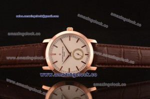 Patrimony 82172/000R-9382 RG silver Dial on Brown Leather Strap - AST17 With 6Sec