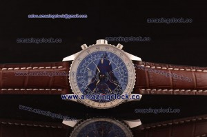 Montbrillant Datora SS Blue Dial on Brown Leather Strap A7751/2992-F19