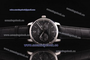 Senator Sixties SS Black Dial on Black Leather Strap - Seagull ST25