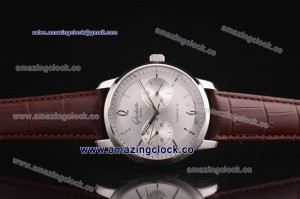 Senator Sixties SS Silver Dial on Brown Leather Strap - Seagull ST25