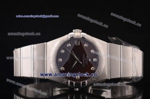 Constellation Gents 38mm SS Brown Dial on Steel Bracelet - A2813