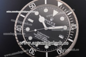 Submariner Style Wall Clock 116610 SS Black Dial Miyota Quartz