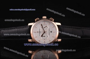Patrimony Rose Gold Markers Rose Gold WatchRG White Dial on Black Leather Strap - OS20 Quartz