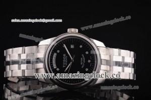 Price day-date SS/Cer Black Dial on Bracelet - A2813
