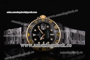 Pro-Hunter GMT-Master 116710 gp PVD Black Dial on PVD Bracelet A2836 Noob Edition