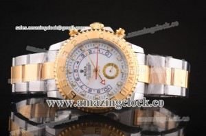 Yacht-Master II 116681 TT White Dial on Two Tone Bracelet A2813