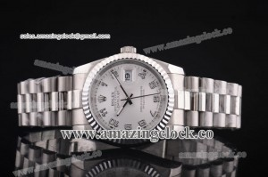 Datejust President 116334-sap SS White Dial on Steel Bracelet - A2813
