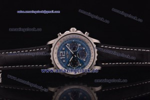 Chronospace SS Blue Dial on Black Leather Strap A7750/503-F34