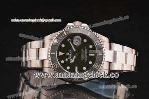 Submariner 116610LN-boo Army SS Army Green Dial on Steel Bracelet - A2836