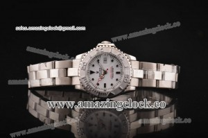 Yacht-Master Ladies 169624SWO SS White Dial on Steel Bracelet A2813