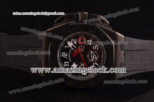 Alinghi PVD A-7750 Sec@6 Black Dial on Black Rubber Strap - A7750/4240