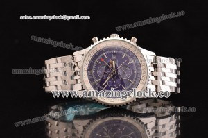Navitimer World SS Purple Dial on Steel Bracelet ASPS53