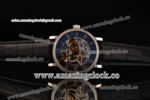 Grand Complication 5104A002 SS Skeleton Dial on Black Leather Strap - A3836