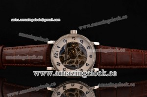 Grand Complication 5104A004 SS Skeleton Dial on Brown Leather Strap - A3836