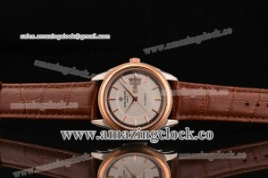 Calatrava 5125D SS White Dial on Brown Leather Strap - A2824