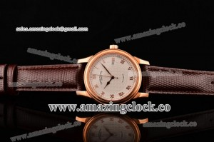 Patek Philippe Calatrava PP13062902 RG White Dial on Brown Leather Strap - A2836 Automatic