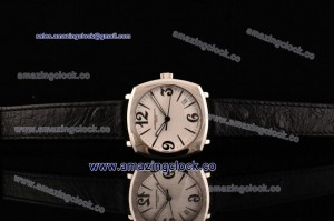 Historiques SS White Dial on Black Leather Strap - Swiss Quartz