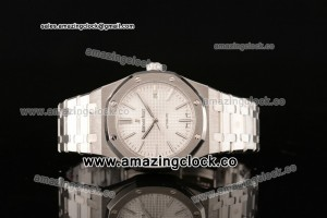 Royal Oak 41mm 1:1 Best Version SS White Superlumed Dial - A2824 (ZF)