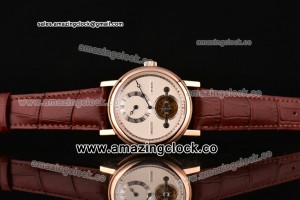 Grandes Complications RG White Dial on Brown Leather Strap - Manual Winding