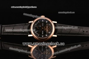 Grandes Complications RG Black Dial Leather Strap - Manual Winding