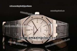 Royal Oak 41 White Dial Leather Strap - A2824 ZF Best Edition