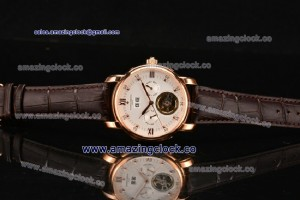 Malte RG White Dial On Brown Leather Strap - AST25