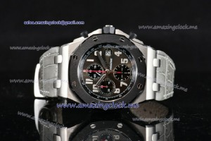 Royal Oak Offshore Doha Limited Edition Chrono 1:1 SS Black Dial - A7750/2936-F2-1 Run12@Sec (J12)