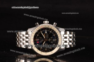 Navitimer World Chrono SS Black Dial - A7751 (BP)